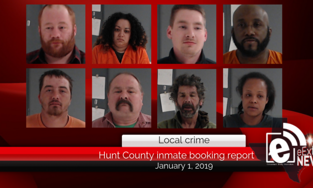 Hunt County inmate booking report || January 1, 2019