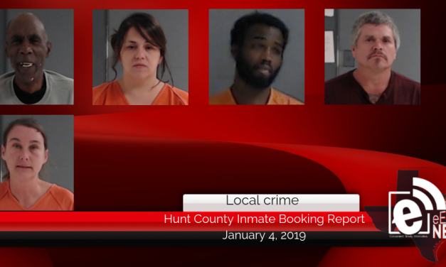Hunt County inmate booking report || January 4, 2019