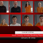 Hunt County inmate booking report || January 17, 2019