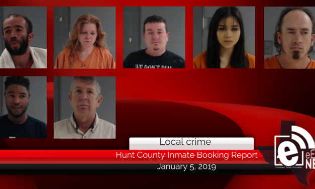 Hunt County inmate booking report || January 5, 2019