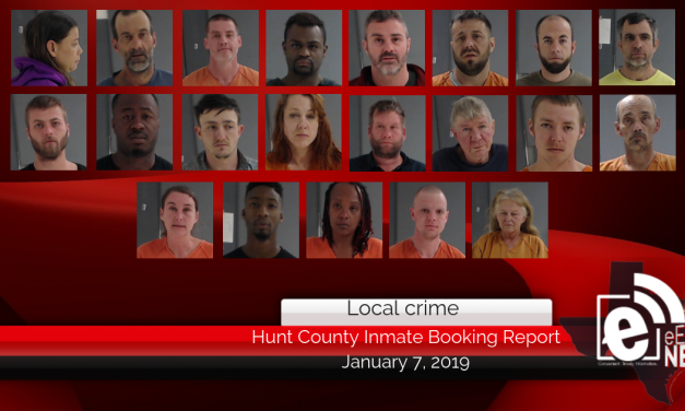 Hunt County inmate booking report || January 7, 2019