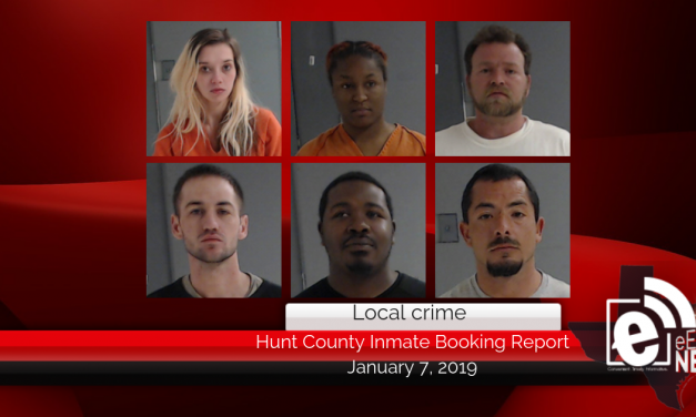 Hunt County inmate booking report || January 8, 2019