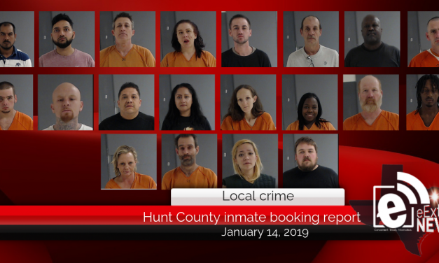 Hunt County inmate booking report || January 14, 2019