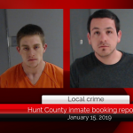 Hunt County inmate booking report || January 15, 2019