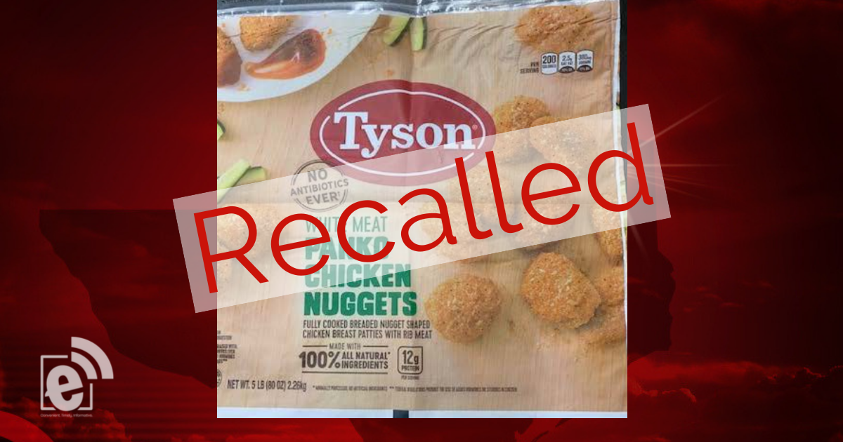 Tyson recalls more than 30,000 pounds of chicken nuggets nationwide