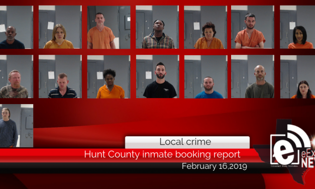 Hunt County inmate booking report || February 16, 2019