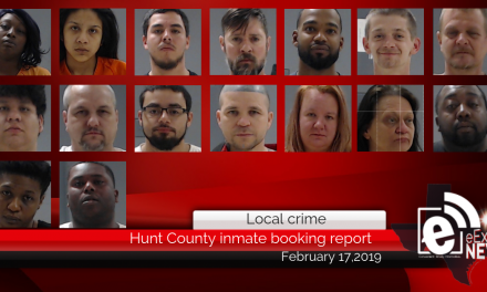 Hunt County inmate booking report || February 17, 2019
