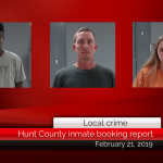 Hunt County inmate booking report || February 21, 2019