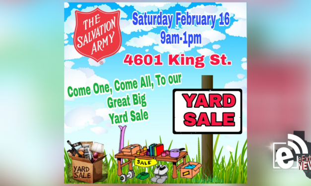 Salvation Army to offer yard sale this Saturday, Feb. 16, 2019