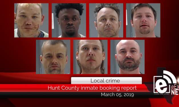 Hunt County inmate booking report    March 05, 2019