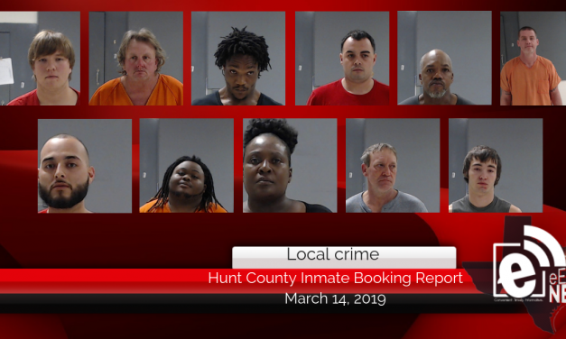 Hunt County inmate booking report || March 14, 2019