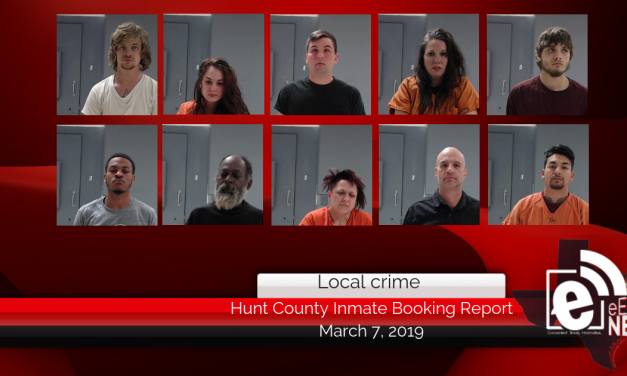 Hunt County inmate booking report    March 7, 2019
