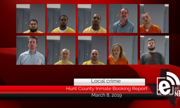Hunt County inmate booking report    March 8, 2019