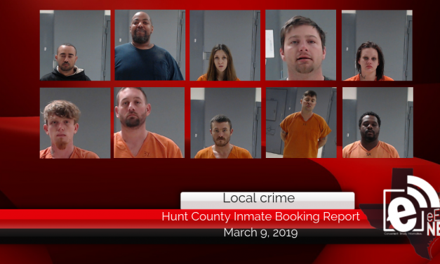 Hunt County inmate booking report    March 9, 2019
