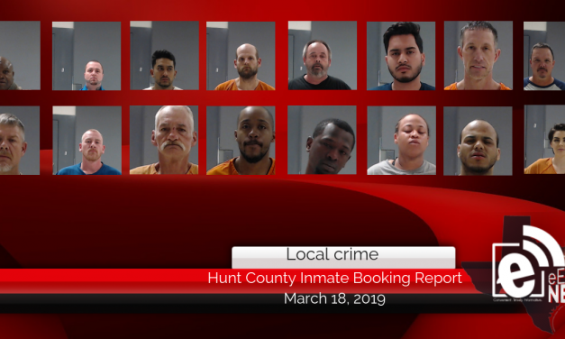 Hunt County inmate booking report || March 18, 2019