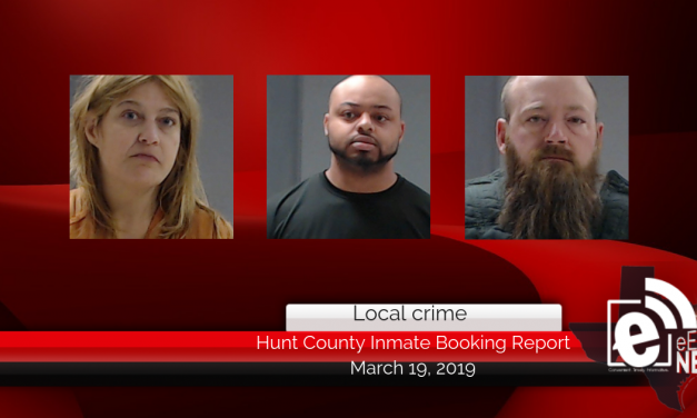 Hunt County inmate booking report || March 19, 2019