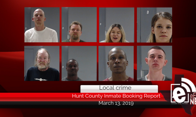 Hunt County inmate booking report || March 13, 2019
