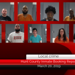 Hunt County inmate booking report    March 20, 2019