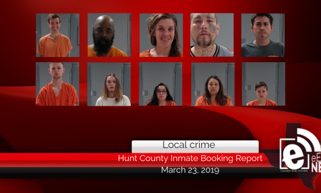 Hunt County inmate booking report || March 23, 2019