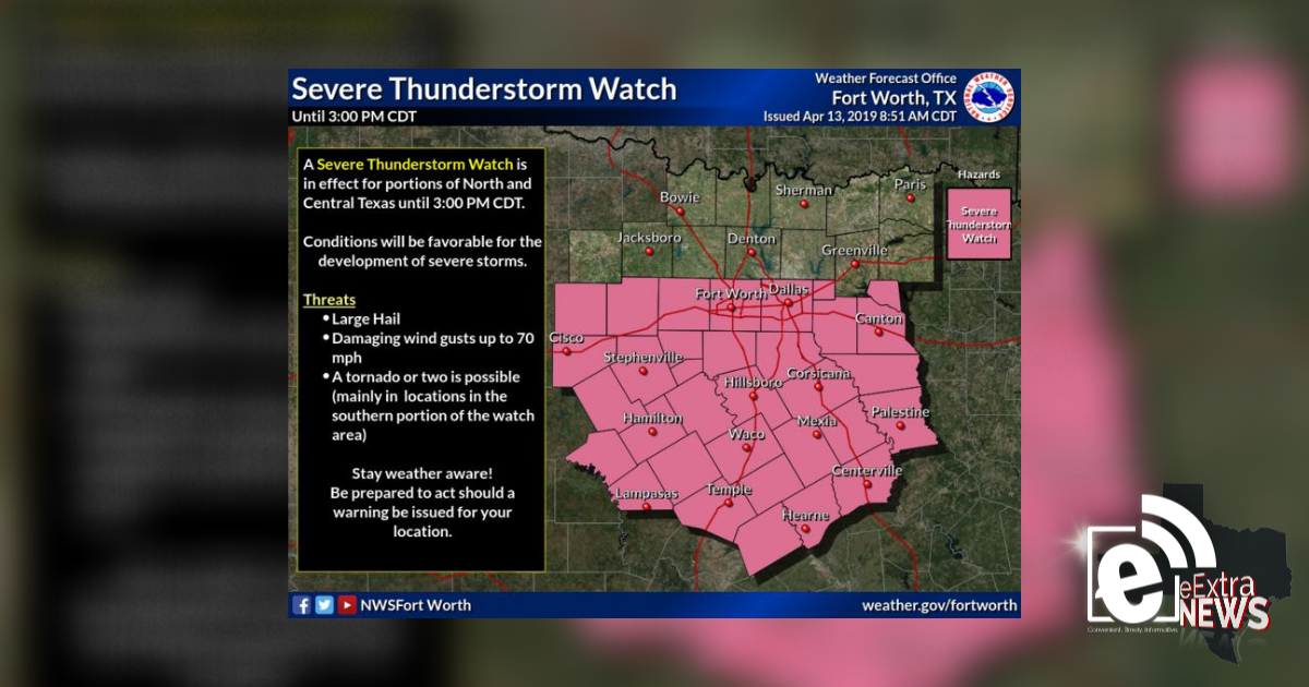 Severe Thunderstorm Watch until 3 p.m. || Weather Outlook