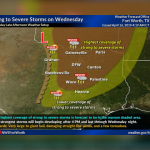 Threat of strong to severe storms Wednesday || Weather Outlook