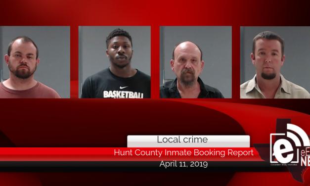 Hunt County inmate booking report || April 11, 2019
