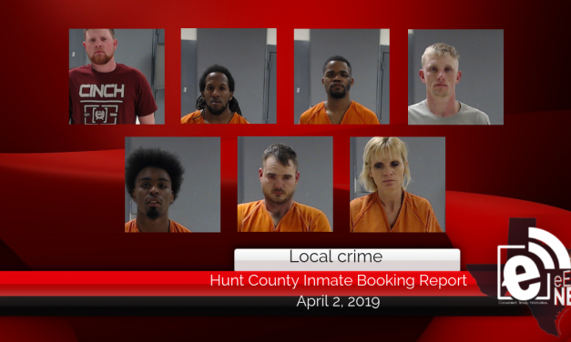 Hunt County inmate booking report || April 2, 2019