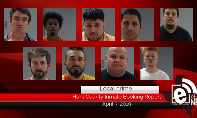 Hunt County inmate booking report || April 3, 2019