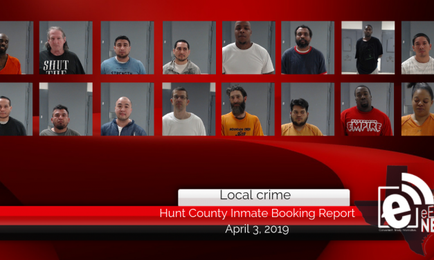 Hunt County inmate booking report || April 4, 2019