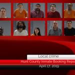Hunt County inmate booking report || April 17, 2019