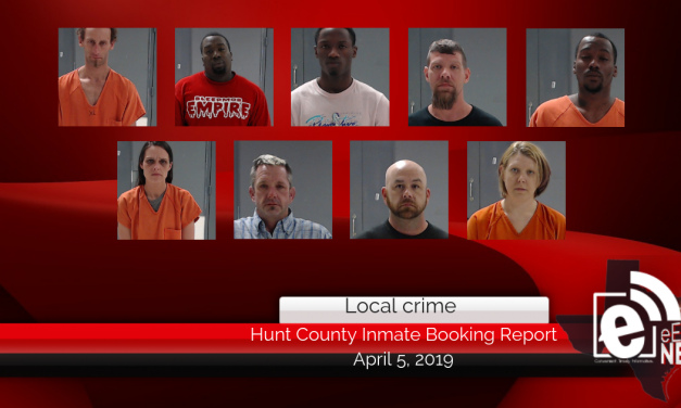 Hunt County inmate booking report || April 5, 2019