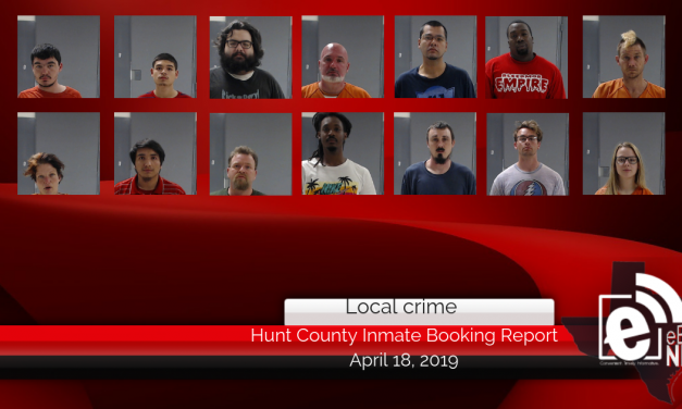 Hunt County inmate booking report || April 18, 2019