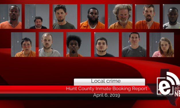 Hunt County inmate booking report || April 6, 2019