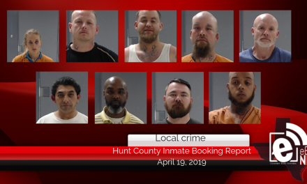 Hunt County inmate booking report || April 19, 2019