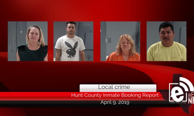 Hunt County inmate booking report || April 9, 2019