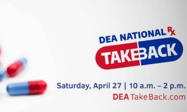 DEA National RX Take-back program is set for April 27, 2019