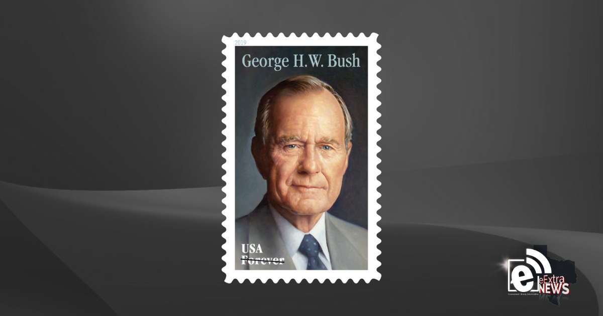 Postal service reveals new Forever stamp commemorating President George H.W. Bush