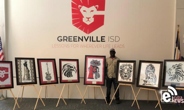 Nigerian artist donates elegant artwork to GISD